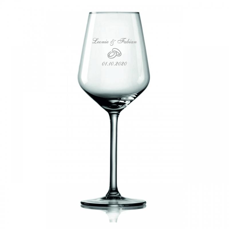 Weinglas Namen, Motiv, Datum