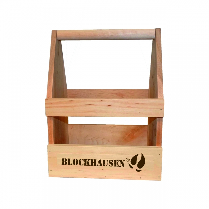Bier- / Weinträger Blockhausen aus Erlenholz