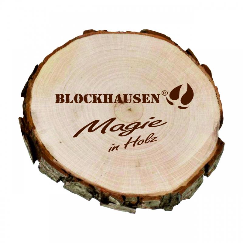 Rindenscheibe Blockhausen aus Erlenholz