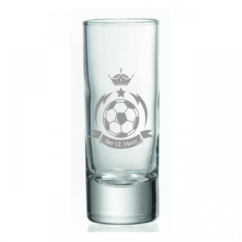 Schnapsglas Fußball 12ter Mann