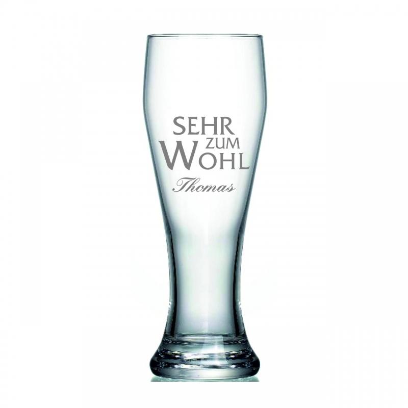 Weizenglas mit Wunschname und Spruch