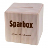 Sparbox mit Wunschname