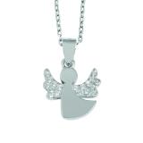 925 Silber Halskette Schutzengel