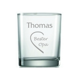 Whiskyglas Bester Opa mit Wunschname