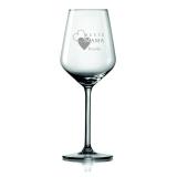 Weinglas Beste Mama mit Wunschname