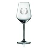 Weinglas Beste Mama mit Ehrenkranz