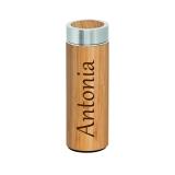 Thermoskanne Bambus mit Wunschname