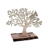 Blockhausen-Baum aus Birken- & Erlenholz
