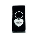 Schlüsselanhänger Metall-Herz mit Spruch (Lasergravur)